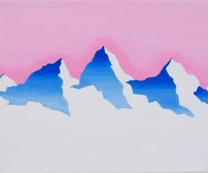 drawing, illustration, and mountains image