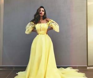 dress, yellow dress, and dilara image