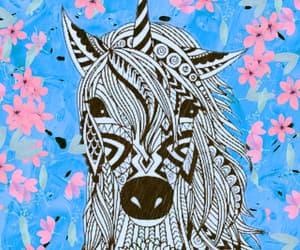blue, horse, and papel de parede image