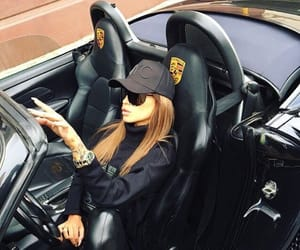 car and girl image