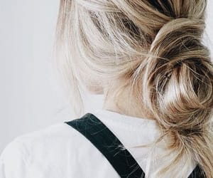 blonde, hairstyles, and knot image