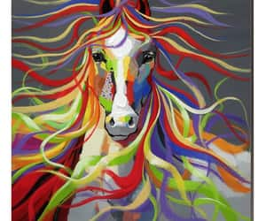 art, painting, and horse image