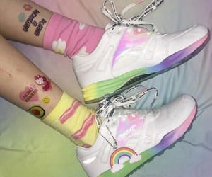 shoes, rainbow, and aesthetic image