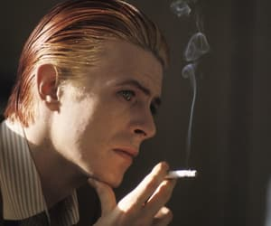 david bowie, cigarette, and bowie image