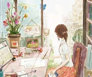 girl, art, and illustration image