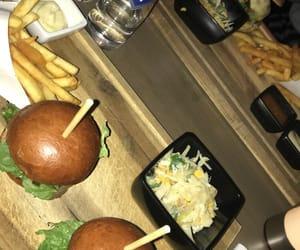 burgers, drinks, and food image