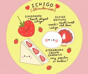 japan and strawberry image