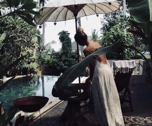 girl and tropical image
