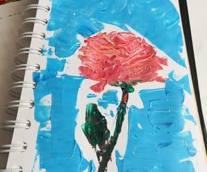 acrilic, art, and rose image