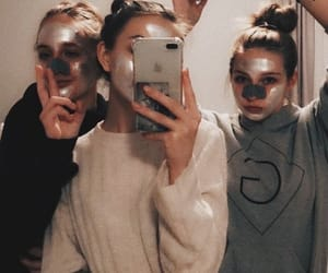 fashion, mask, and friends image