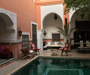 hotel, pool, and morocco image