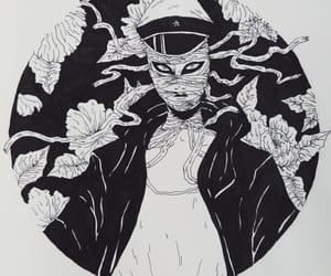 anime, bnw, and boy image