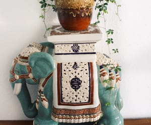boho, decor, and elephant image