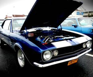 blue, classic car, and car show image