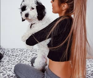 girl, dog, and outfit image