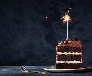 gif, birthday, and cake image