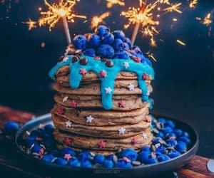 birthday, blueberry, and blue image