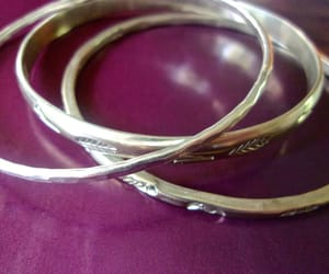 sterling silver, bangles, and engraved image