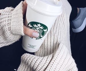 cardigan, coffee, and cup image