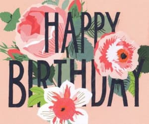birthday card, floral, and flowers image