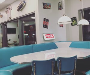 american, blue, and diner image