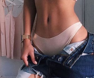 fashion, rose, and stomach image