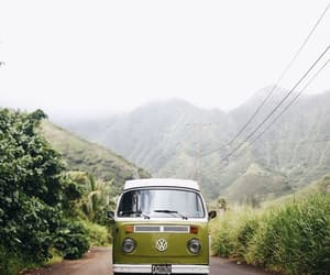 adventure, bus, and green image