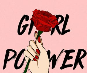 girl power, power, and rose image