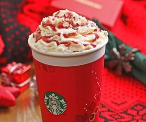 starbucks and red image