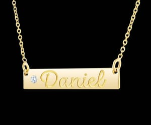 jewelry, engraved necklace, and necklaces image