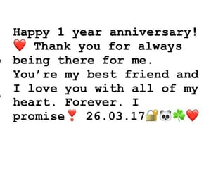 anniversary, best friend, and forever image