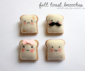 mustache, toast, and cute image