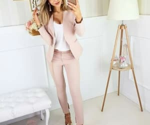 pink outfit, girl boss, and perfect image