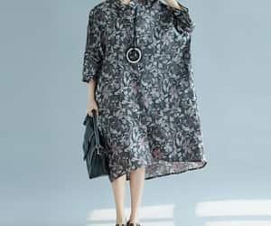 etsy, long shirt, and asymmetrical dress image