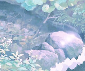 anime, gif, and water image