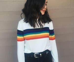 rainbow, fashion, and girl image