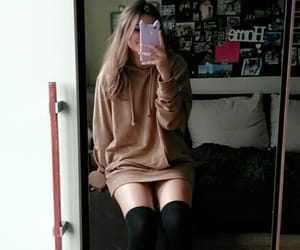 girl, outfit, and hoodie image