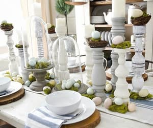 country living, home decor, and table setting image