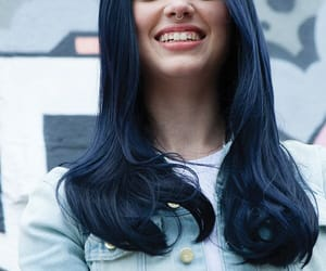 color, hairstyle, and black blue image