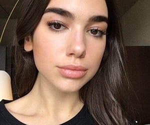 dua lipa, eyebrows, and hair image