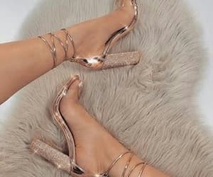 fashion, heels, and rose gold image