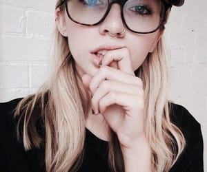 girl, fashion, and glasses image