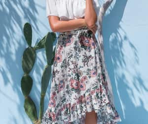 boho, floral, and retro image