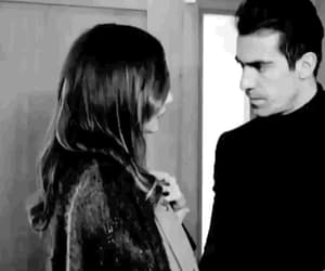 black & white, couple, and gif image