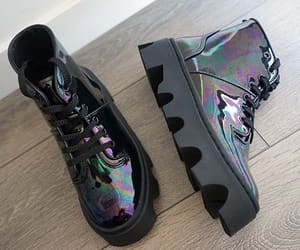 underground england shoes, underground goth boots, and oil slick boots image