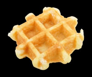 clear, dessert, and waffle image