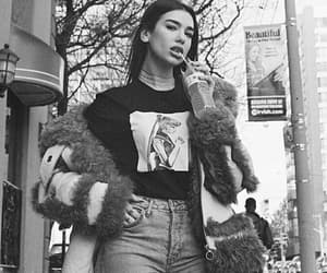 dua lipa, black and white, and model image