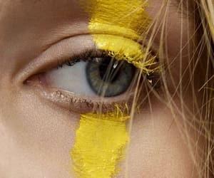 yellow, aesthetic, and eye image