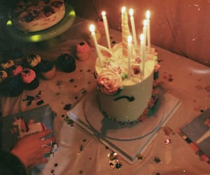 cake, candles, and happy birthday image