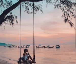 amazing, peaceful, and sunset image